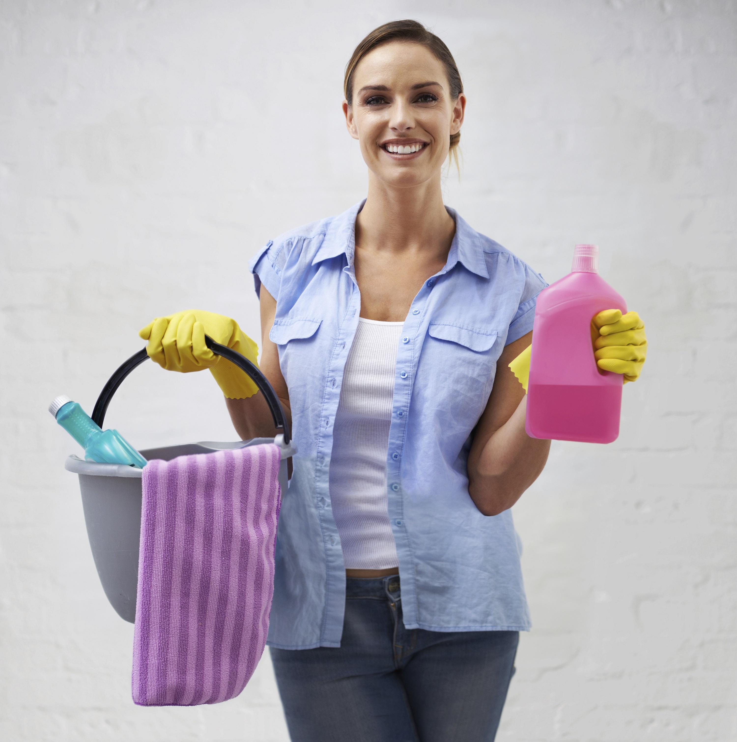 professionele schoonmaakster